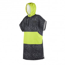 Mystic Allover Print Poncho One Size Black/Lime 2019