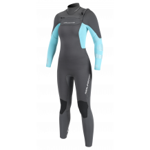 Neilpryde Vamp Dames Fullsuit Wetsuit 3/2 Frontzip Graphite/Turquoise 2020